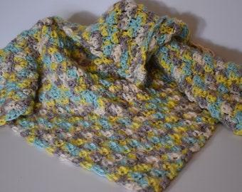 Crochet Baby Blanket for Boy or Girl / Lap Blanket