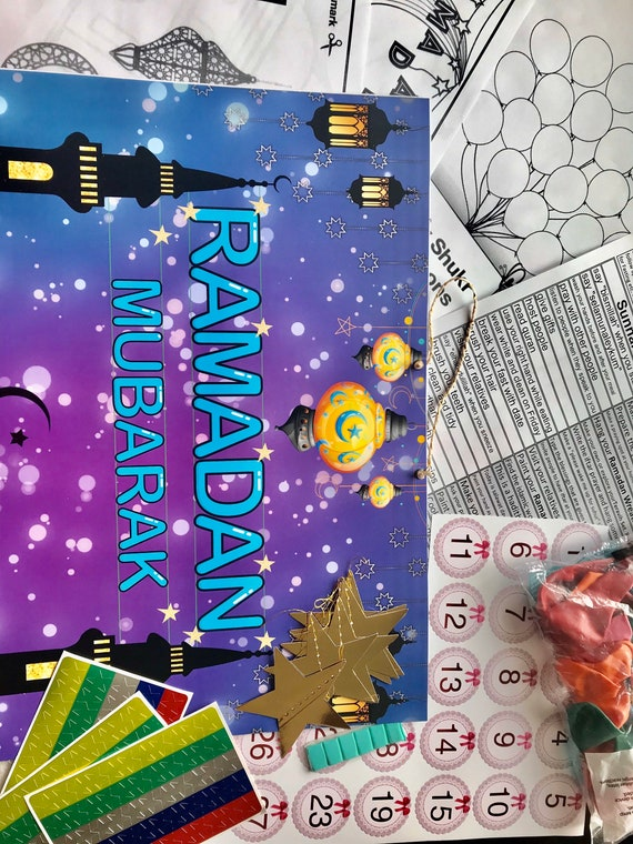 Ramadan Follow Up Calendar For Kids Etsy