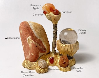 SUN AND SAND Crystal Landscape - Sacred Space - Crystals - Woodland Wonders