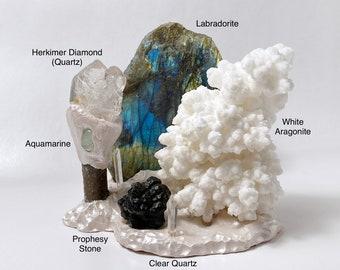 SNOWY PARADISE Crystal Landscape - Sacred Space - Crystals - Woodland Wonders