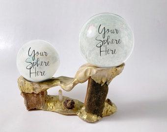 CRYSTAL SEED Sphere Stand - Sacred Space - Crystals - Woodland Wonders