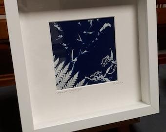 Nettle and Fern Original Botanical Cyanotype Print