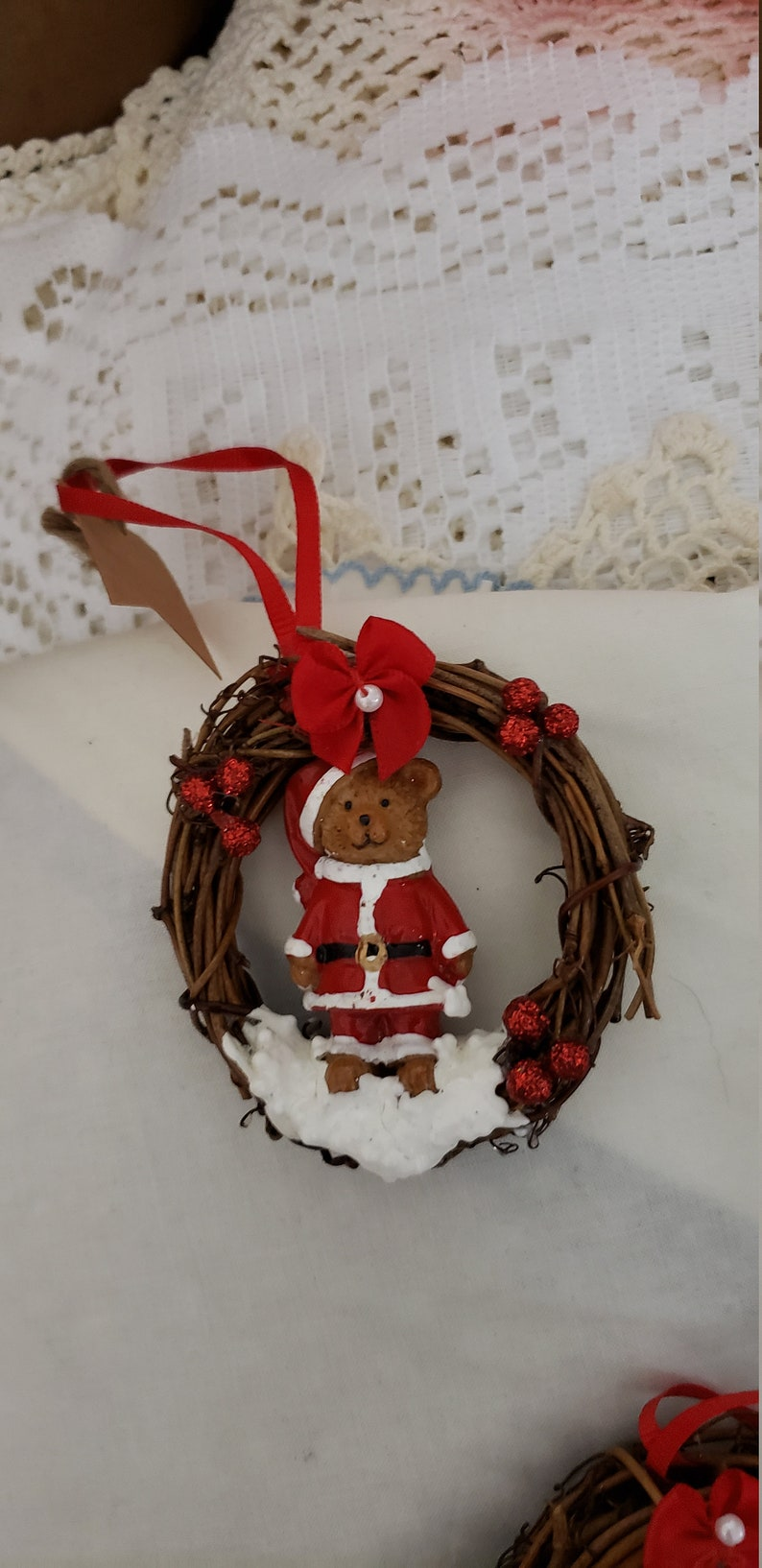 Grapevine Wreaths with Bears Set of 3