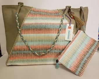 Fabric Purse Shoulder Bag Tote Bag