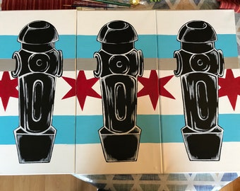 Chicago Insipired Foosball Paintings