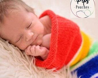 Hand Knit Baby Swaddle/Newborn/ Swaddle Sack/Baby Cocoon/Photo Shoot