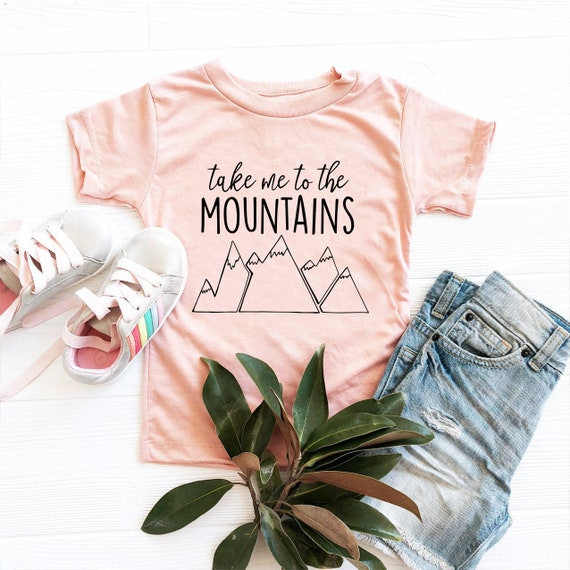 Take me to the mountains kids tshirt adventure kids shirt Baby and Kids Tees Vacation Shirt  for toddler Mountain T Shirt gift for kids
