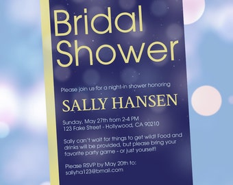 "DIY Print-At-Home Bridal Shower Invitation ""Bridal Shower"""