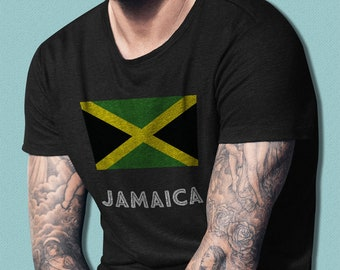 Jamaica T-Shirt, Unique Jamaican Gift, Jamaica Soccer Fan Gift, Jamaican Travel Shirt, Country Flag, Nationality, Kingston, Country Pride