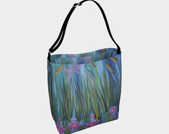 Waterlilies Day tote Bag