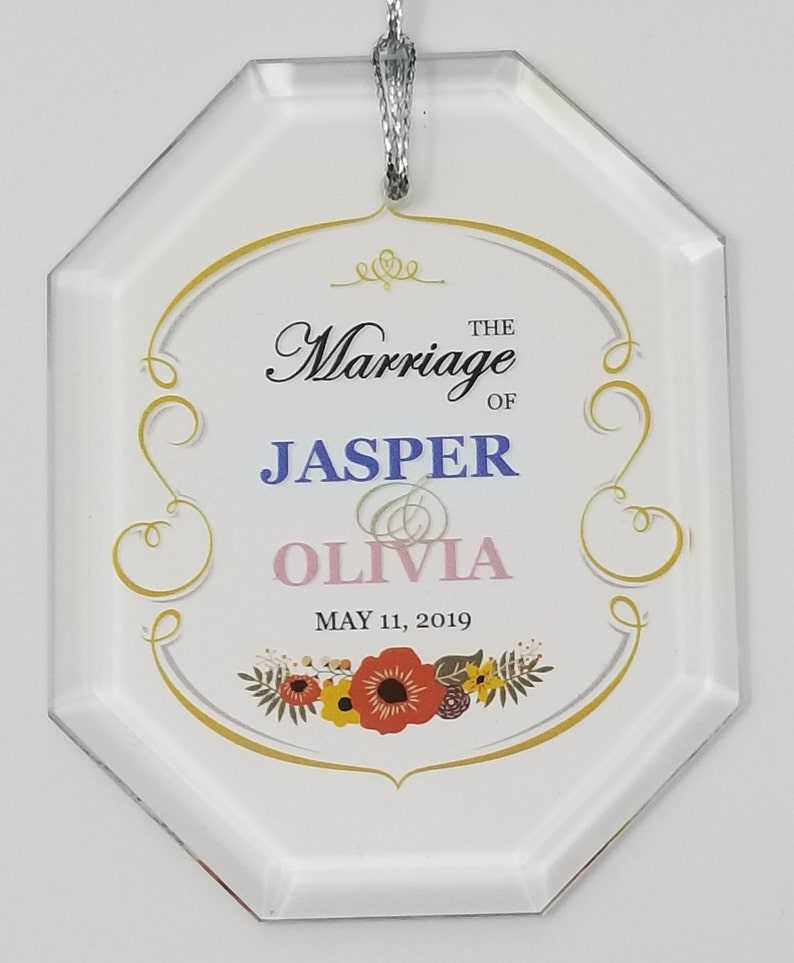 Free Shipping Rectangle Crystal Oval Heart 5 Pieces Personalized Wedding Crystal Ornament Octagon Full Color Printing