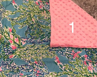 360b7bf6af8ea8 Lilly Inspired Monogrammed Minky Baby Blanket - Perfect New Baby Girl Gift!  Lily