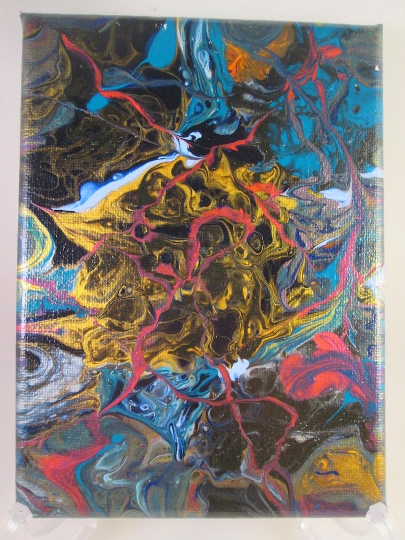 Peint De Peinture Verser Peinture Pour Art Art Mural Toile Etsy
