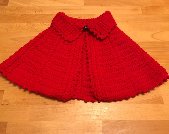 Knit baby wool capelet