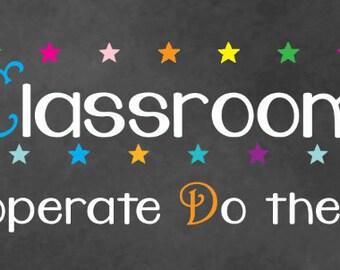 Classroom Rules - Customized Name
