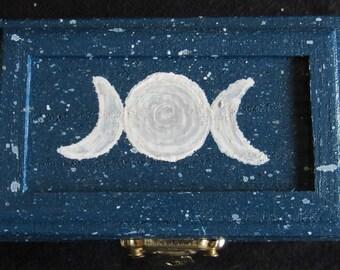 Blue Triple Moon Goddess