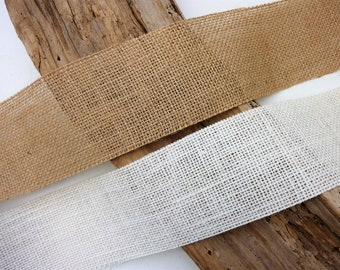 Wedding-Rustic-Crafts-Trim-Decor NATURAL HESSIAN SCROLL TRIM-2 Metre Lengths