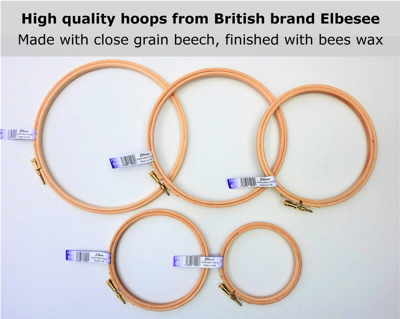 Wooden embroidery hoop cross stitch hoops embroidery ring 4 image 0