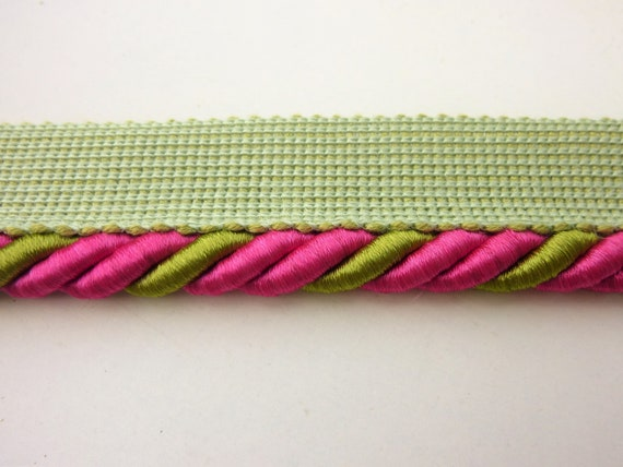 10mm wide Dark Green Upholstery flanged cord sold by the mtr