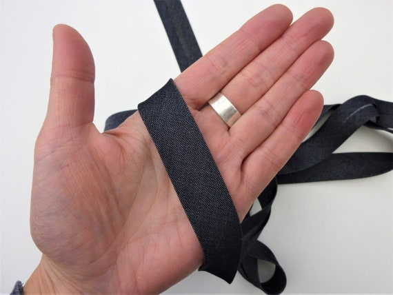 Mid Grey Bias Binding Tape 25mm 1 Inch Double Fold Bias from 1m Meter
