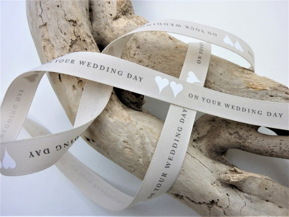 "Wedding Ribbons Bride /& Groom 1m 3m Cake Trim Mr /& Mrs 5//8/"" Gift Ribbon"