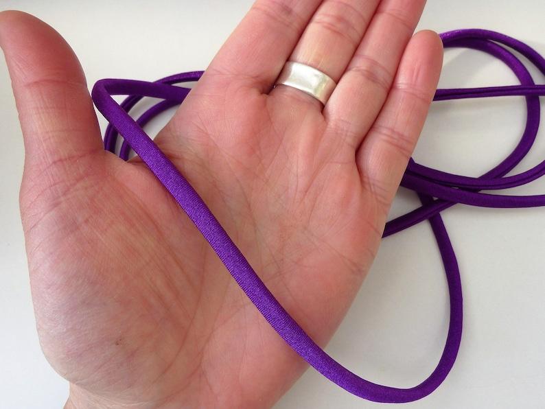 bracelets lingerie hair ties bikinis Purple elastic spaghetti cord for swimwear