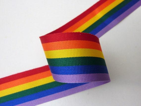 GAY PRIDE//RAINBOW RIBBON,LGBT.35 MM X 50 METRES
