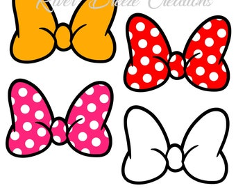 Minnie Mouse Bow Svg File Disney Polka Dots For Silhouette Instant Download
