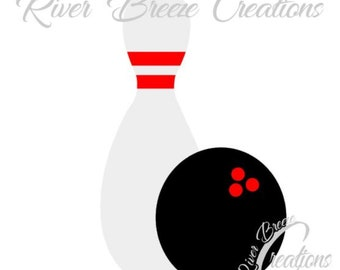 Bowling svg, Bowling Ball Silhouette Svg, Bowling Cricut Svg, svg files, svg file for cricut, svg file for silhouette, instant download