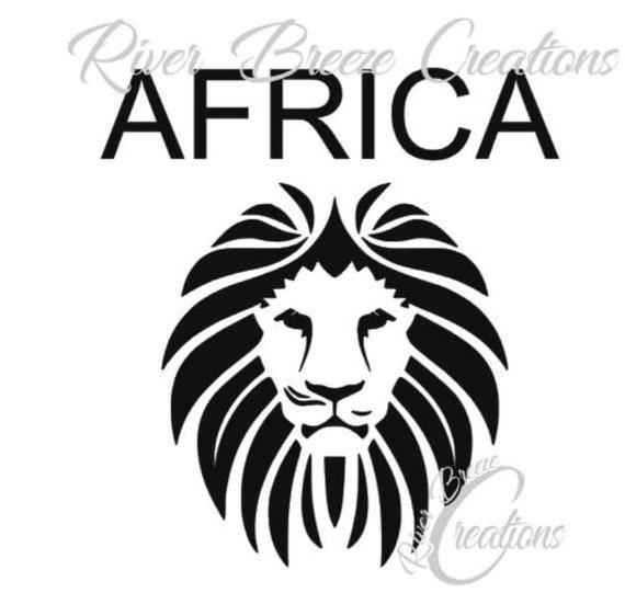 African Lion Svg Silhouette Svg Cricut Svg Safari Animal Etsy
