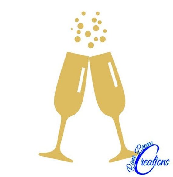 f8a0345d0a9 Champagne Glasses svg silhouette svg cricut svg drinks svg image 0