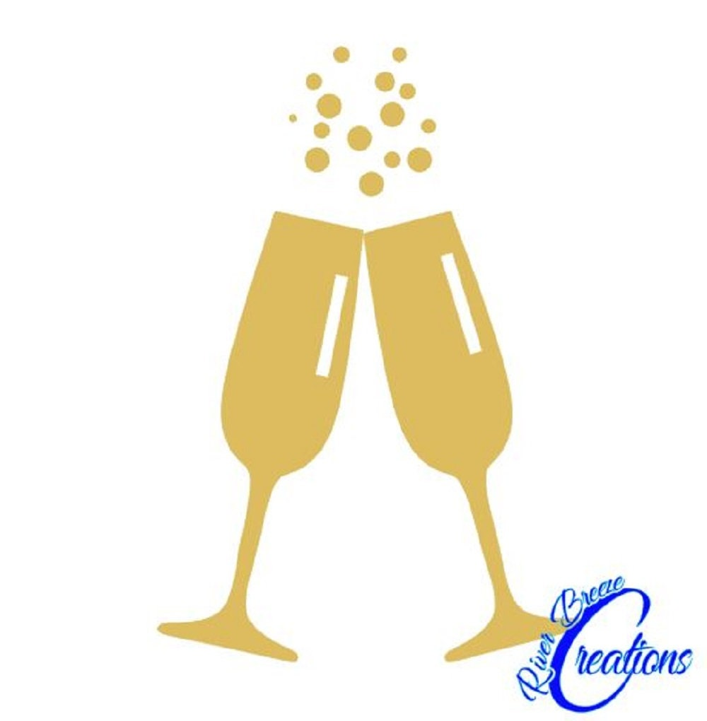 dcf48e161b2 Champagne Glasses svg silhouette svg cricut svg drinks svg | Etsy