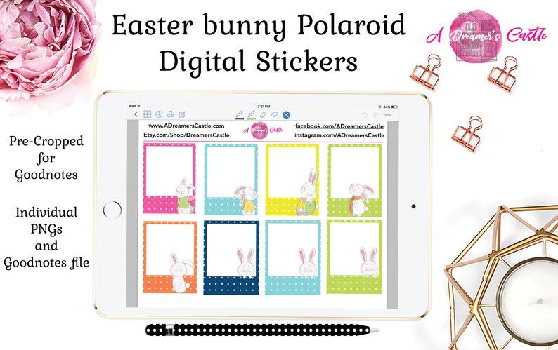 Digital Frame Stickers | Digital Sticker Pack | Easter Digital Stickers |  GoodNotes zip file | Image Pack Transparent | Instant Download