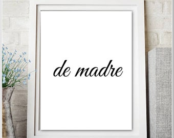 de madre- Printable PDF-graphic black and white-gallery wall art-office-living room