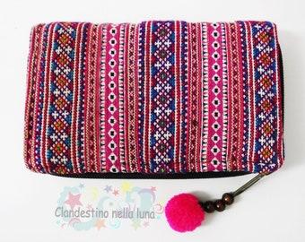 dee2e528d9 PORTAFOGLIO artigianale THAILANDESE. hand made wallet. cotone fatto a mano. portafoglio  donna