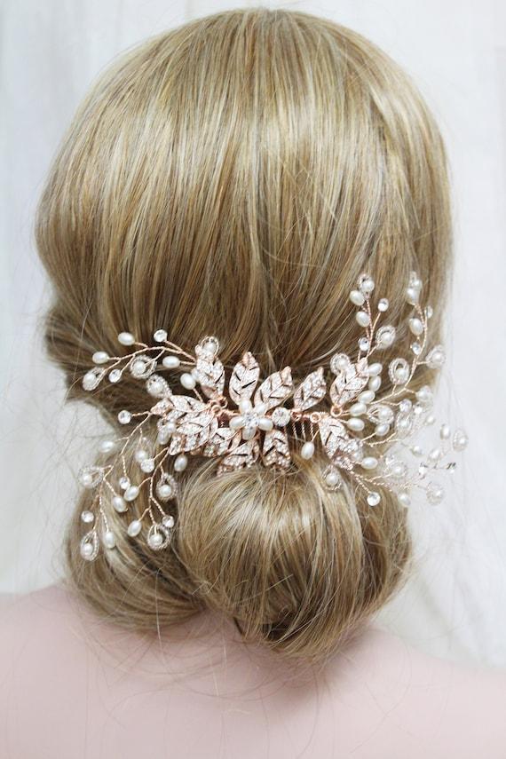 Pieza para cabeza Nupcial Flor Nupcial Peine de Cabello Peine De Dama De Honor Boda hair piece