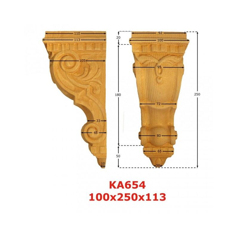 100 mm x Ep 113mm Capitals KA654 blank H 250 mm x w