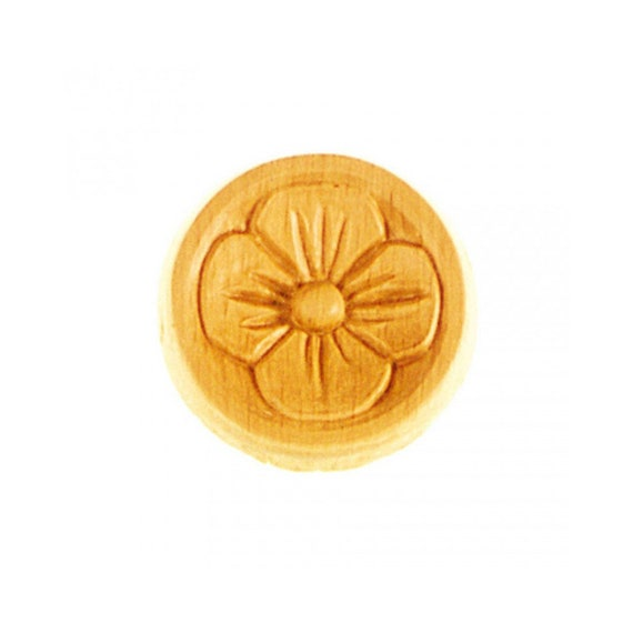Round RR45 rosettes made of wood 200 mm x 200 mm x 11 mm Ep L