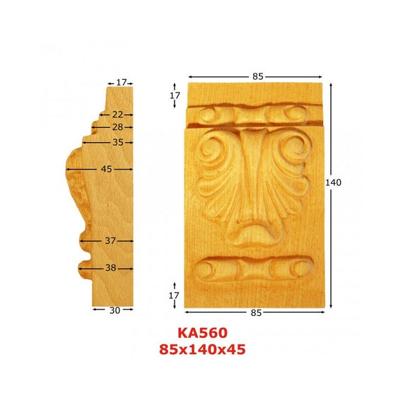 Capitals KA594H 12 blank H 35mm 85 mm x w 70 mm x Ep