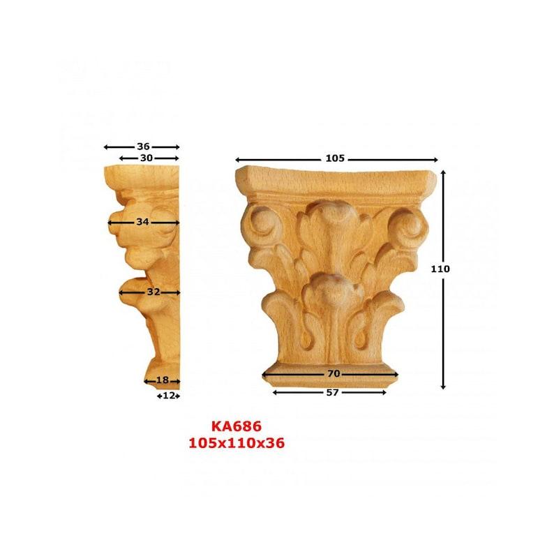 36mm Capitals KA686 blank H 110 mm x 105 mm x Ep w: