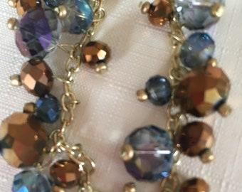 Blue/Brown Beaded Bracelet