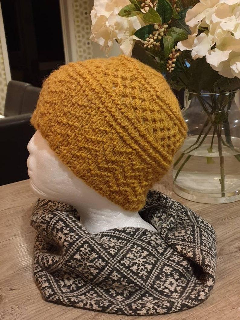 Shetland wool handknitted Knitted hat beanie hat