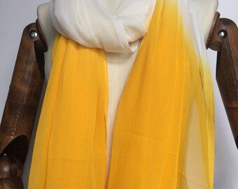 Scarf yellow / white women's fashion