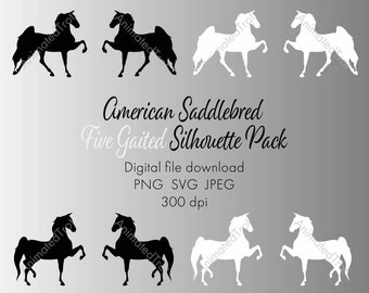 "American Saddlebred ""Five Gaited"" Silhouette Pack"