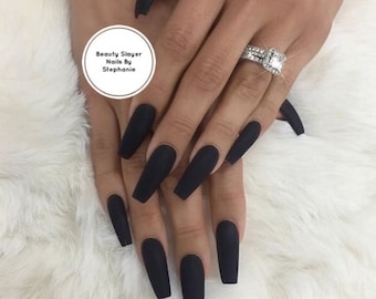 Matte About You Black Nails