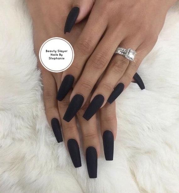 Matte About You: Black Matte Nails Press On Nails | Etsy