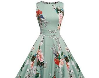 vintage dress, dress 1950, summer dress, floral dress, 50s dress, girls vintage dress, cocktail dress, bridesmaid dress, vintage style