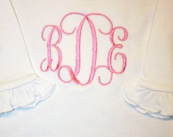 baby girl gowns, baby gowns, monogrammed, shower gifts, embroidered