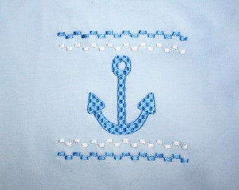 boy baby gowns, anchor, lake, embroidered, gifts, baby gifts