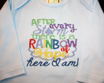 gowns, baby gowns, miscarriage, rainbow, embroidered, gifts, baby gifts